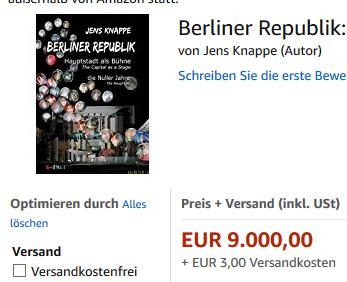 Angebot Jens Knappe Berliner Republik 9000 Euro